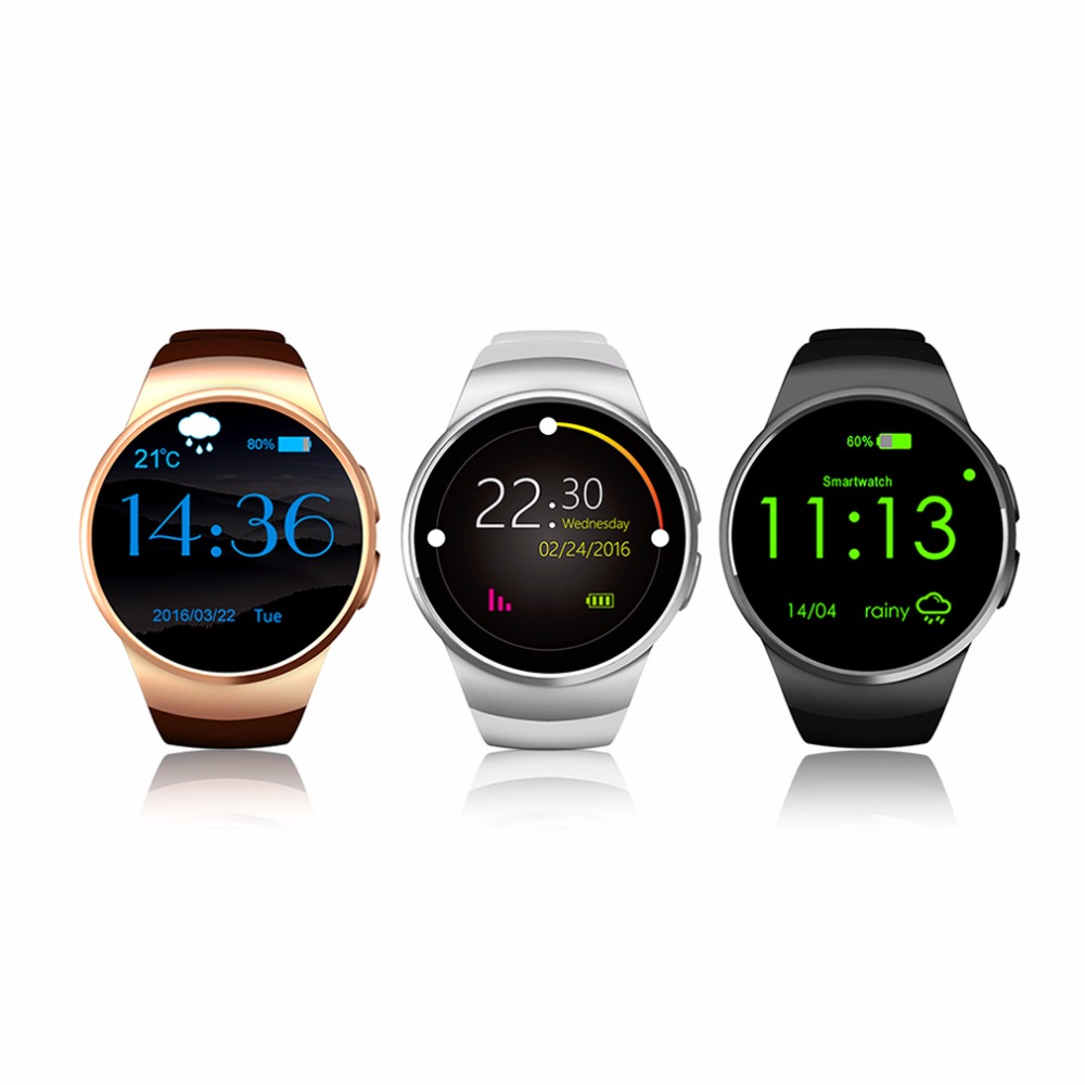 Bluetooth Smart Watch Phone KING WEAR KW18 Sim TF Card Heart Rate font b Smartwatch b