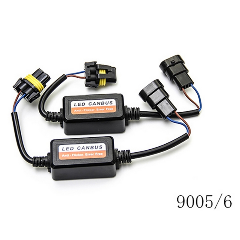2pcs H4 H7 LED Car Light Decoder Car Fog Lights Canbus Wiring Adapter 9005 9006 H1 H8 H9 H11 Computer Warning Error Resistor in Car Light Accessories from Automobiles Motorcycles