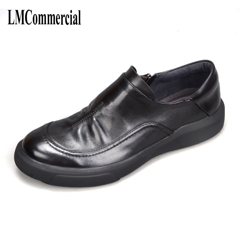 casual Men Flats Fashion High Quality Genuine Leather Shoes Men,Lace-Up Business Men Shoes Men Dress Shoes,Summer Oxfords Spring esudiamon casual shoes men british flats black men genuine leather business lace up soft dress men oxfords shoes 45 big size page 4