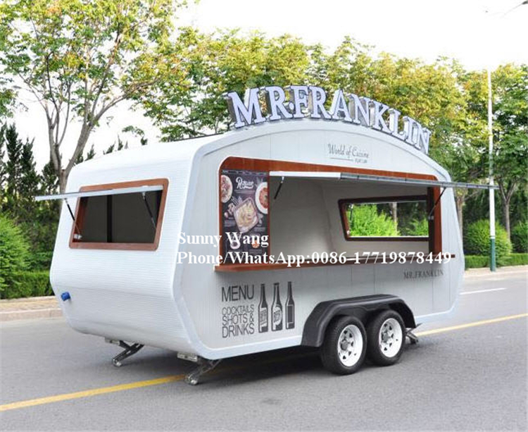 5.35m New Arrival Outdoor Mobile Food Trailer/ Street Mobile Food Cart/ China Factory Mobile Food Truck For Sale
