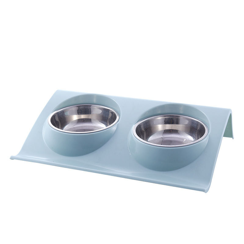 Stainless steel pet bowl Silicone Bone Pet Bowl with No Spill Non-Skid Pet Puppy Cat Food New