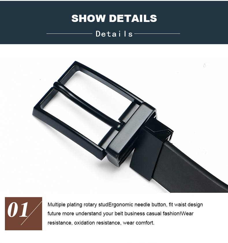 DOULILU Double-sided available Two-layer leather pin buckle belt Men's double-sided leather casual fashion belt rotation buckle  For Men Jeans Casual Belt Pin Buckle Masculine Cummerbund1 (11)