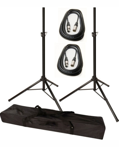 Tripod Speaker Stands with 2pcs 25ft Cable and FREE Carrying BagTripod Speaker Stands with 2pcs 25ft Cable and FREE Carrying Bag