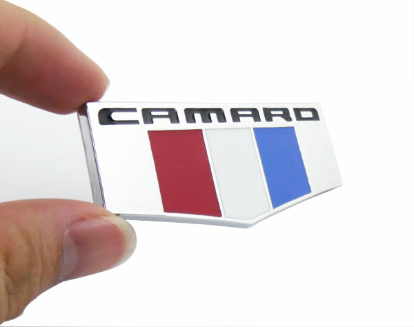 Chrome Camaro shield for 2016-2017 Camaro Front Fender Emblem Badge Sticker 2pcs auto aluminium red rs for camaro side wing emblem decal badge sticker