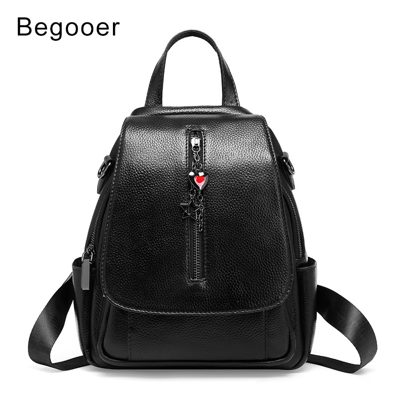 2019 New Fashion Women Backpack Genuine Leather Ladies Backpacks Small Preppy Style School Backpack For Girls Travel Day Pack-in Backpacks from Luggage & Bags    2