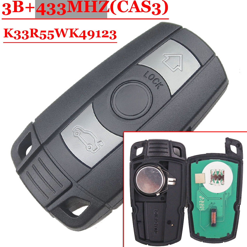 Free shipping(1 piece)New Remote Car Key Fob card 433MHz ID7944 Chip CAS3 System for BMW CAS3 E60.E61.E90.E92.E93.E70.71.72 2pcs lot 24 smd car led license plate light lamp error free canbus function white 6000k for bmw e39 e60 e61 e70 e82 e90 e92