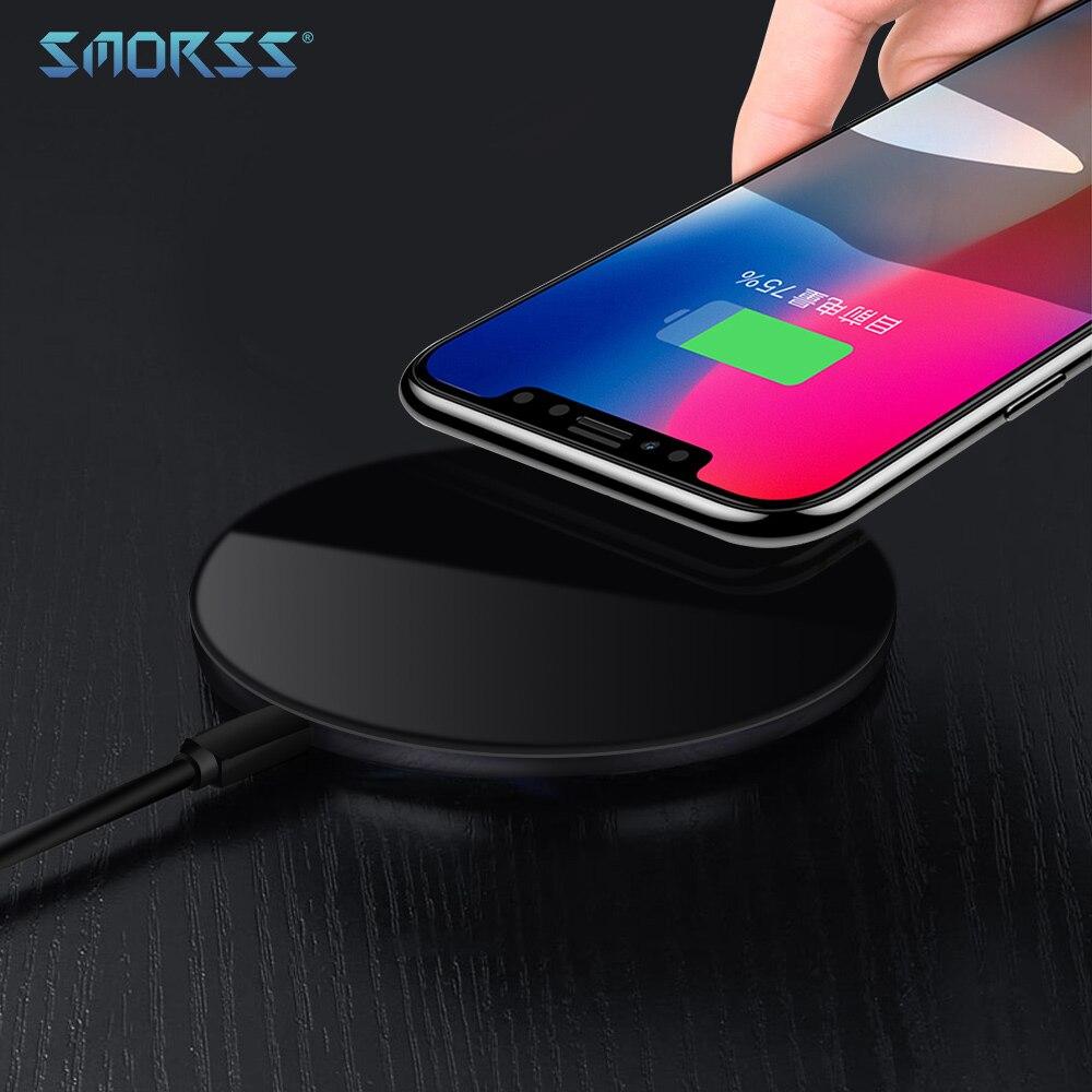 SMORSS 15 W Sans Fil Rapide Chargeur 5 V 9 V 12 V Sans Fil De Charge Pad pour iPhone X 8 8 Plus pour Samsung Galaxy S7/S8/S8 +/S6 bord