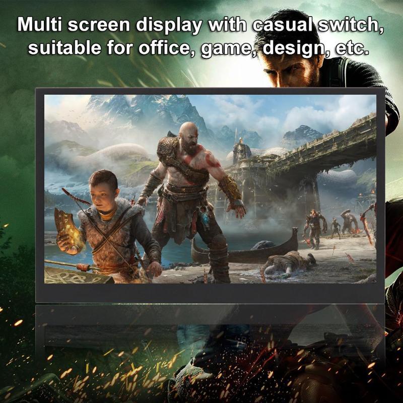 13.3 pouces HDR Portable moniteur 1920x1080 P IPS LCD écran affichage LED moniteurs avec câble type-c pour HDMI PS4 XBOX One cadeaux de jeu - 3