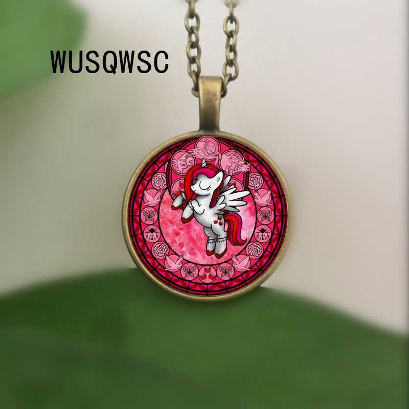 WUSQWSC 2018 ファッションマイ · リトル · ポニーネックレスマジックレインボー馬女のチェーンネックレス誕生日プレゼントアニメジュエリー