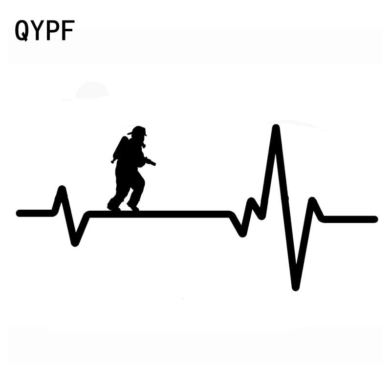 QYPF 18,4 см * 8,5 см в спасательных огнях, пожарный с новым скоростным светильник, виниловая яркая наклейка для автомобиля, переводная наклейка, с...