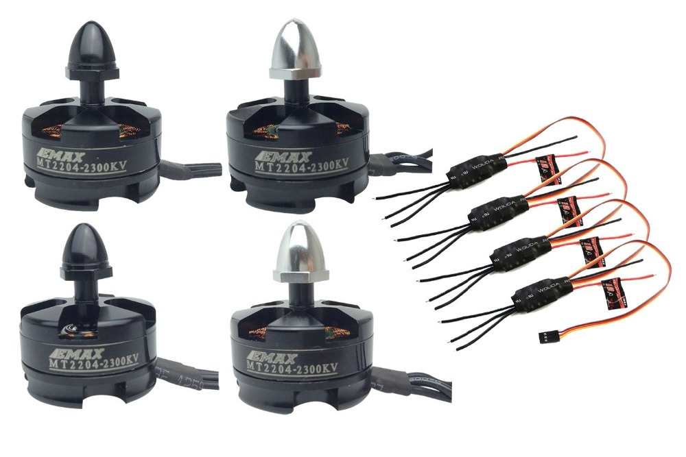ФОТО 4x EMAX Simonk 12A ESC + 4x 2204 2300KV Motor for 250mm QAV250 Multi Quad Copter