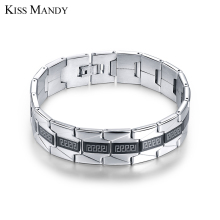 KISS MANDY New Fashion Bracelets Fashion Jewelry for Men 316L Stainless Steel Bracelets FB10