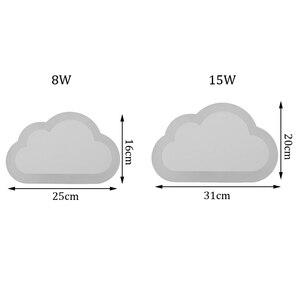 Image 5 - Современный светодиодный настенный светильник 8 Вт, декор для гостиной, спальни, облаков, настенные светильники из акрила и железа, минималистичный настенный светильник, 110 В, 220 В, 240 в перем. Тока
