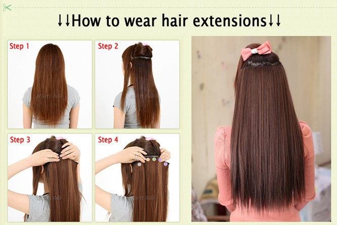 Natural straight hair clip in on hair extensions 26 inch 66cm natural straight hair clip in on hair extensions 26 inch 66cm length long thick blonde hair black dark light brown hairpiece on aliexpress alibaba pmusecretfo Images