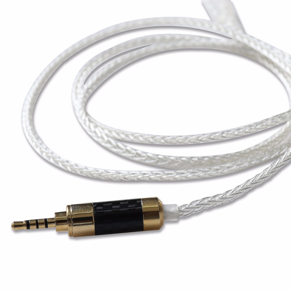 BGVP 5N Single Crystal Copper Silver Plated Earphone Cable MMCX 2.5mm Balanced For SE535 SE846 new 2pin 0 78 pin 4 cell single crystal copper plated silver cable earphone upgrade cable for custom earphone