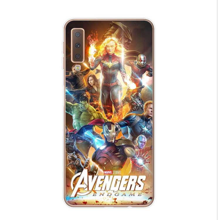 cover samsung a7 2018 marvel