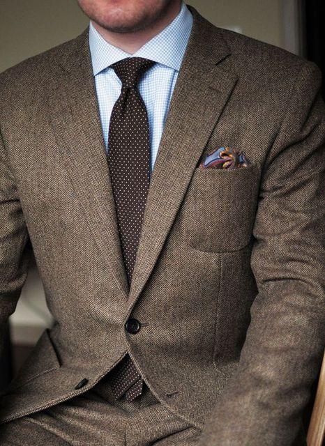 Aliexpress.com : Buy 2017 Dark Brown tweed blazer men Wool ...