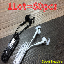 HOT! prime quality 60pcs/lot S7 Headsets In-ear Earphones Headphones Palms-free with Mic Emblem For Samsung HuaWel Nokia HTC Xiaom1