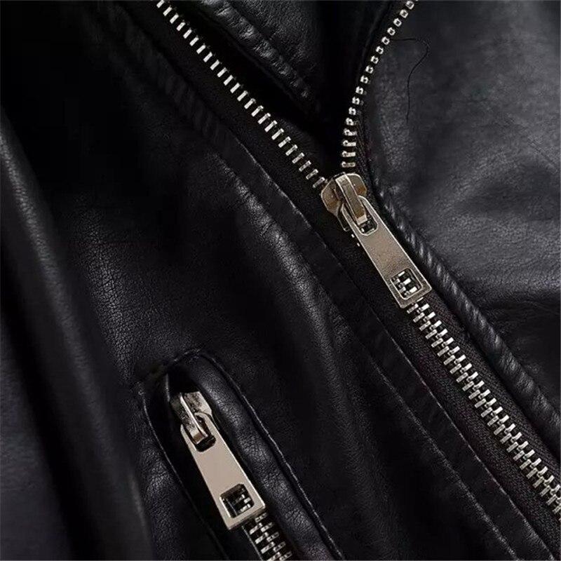 Col Manches En Slim Amérique Black Europe Css118 down Turn Printemps Vêtements Chaud Manteau De Cuir Longues Automne À Mode Femmes 2018 ESqTPP