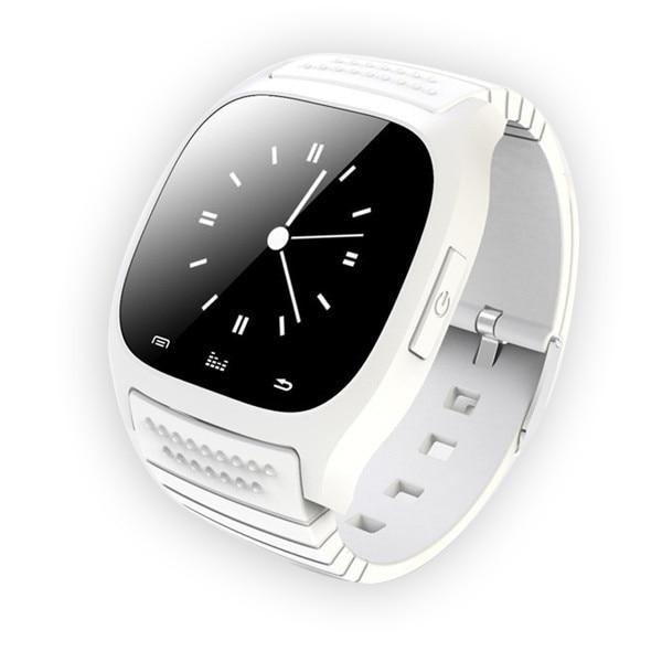 Smartch Bluetooth Montre Smart Watch M26 avec LED Affichage/Cadran/alarme/Lecteur de Musique/Podomètre pour Android IOS HTC Mobile téléphone