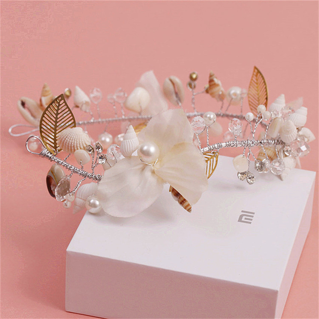 Ocean Theme Tiara Headband Beach Wedding Jewelry Hair Accessories