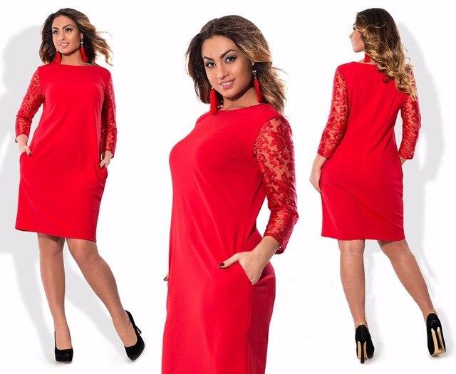 Winter Autumn Women Black 6XL Plus size Elegant Floral lace dress Big size Office Dress Wear to work large size dress Vestidos