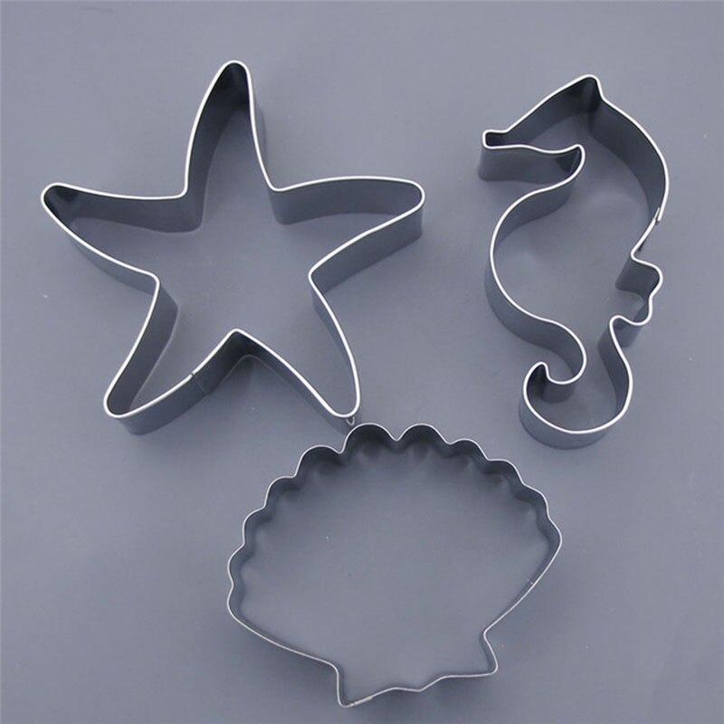 Para Fondant Decoración de pasteles en forma de estrella Moldes Cortadores 3 Tamaños Nuevo