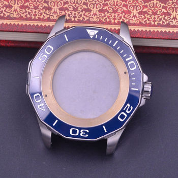44mm Sapphire Glass Polygonal ceramics Bezel Watch Case fit ETA 2824 2836