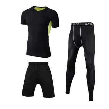 Men Sportswear Compression Sport Suits Quick Dry Running Sets Clothes Sports Joggers Training Gym Fitness Tracksuits Running Set 20