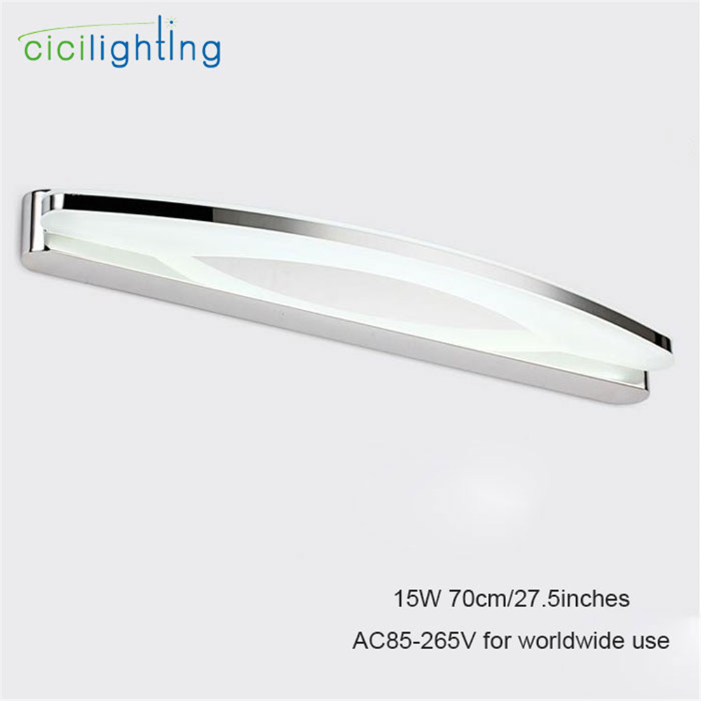 Фотография 90V - 265VAC L70cm 15W led mirror lights lamp  Mirror cabinet lights SMDLED Dress mirror acrylic bedroom bathroom shop lighting