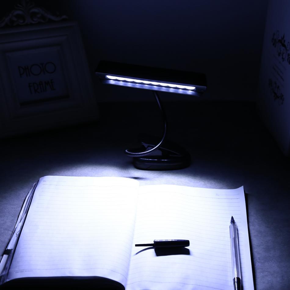 10 Led Lampe De Table Clip-on Pupitre Lampe De Bureau Lumière Luminaria De Mesa Chambre Bureau Lampe De Lecture Protection Des Yeux Ac 110 V ~ 220 V