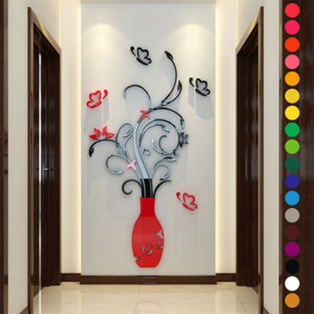 Fashion Flower DIY Removable Vinyl Decal Art Mural 3D Wall Stickers Home Room Decor 6