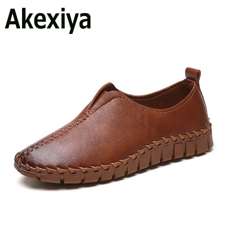 Akexiya 2017 Platform Loafers Slip On Ballet Flats Pinted Toe Shoes Woman Comfortable Creepers Casual Women Flat Shoes  qmn women genuine leather flats women horsehair loafers retro square toe slip on flat platform shoes woman creepers 34 42
