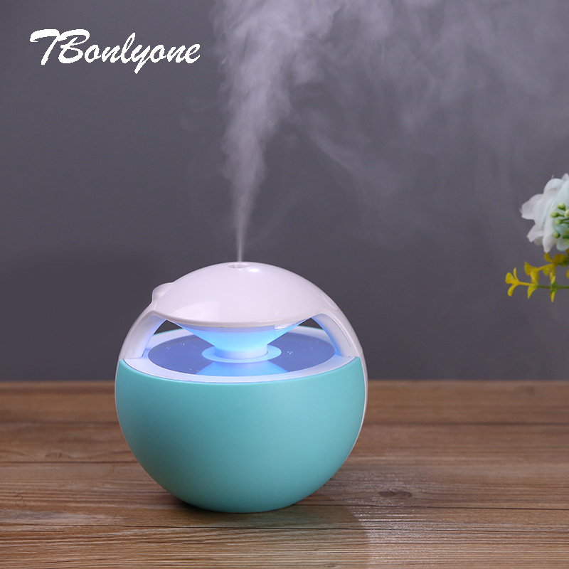 TBonlyone 450ML Ball Humidifier With Aroma Lamp Essential Oil Ultrasonic Electric Mini USB Air Humidifier Fogger Aroma Diffuser