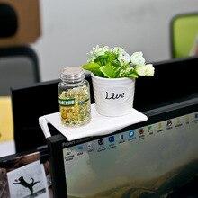 Ayarlanabilir ekran raf masa masa ofis depolama rafı klip bilgisayar masası masası aksesuarları organizatör