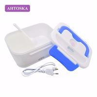 AHTOSKA Electric Portable 220V Heated Lunch Box Food Grade Food Container Set Food Warmer Bento With