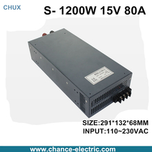 switching power supply 15V 80A 1200W 110~220VAC  single output input  for cnc cctv led light(S-1200W-15V)