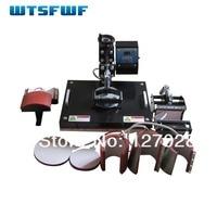 New Design 8 In 1 Combo Heat Press Machine Cap Mug Plate T Shirt Sublimation Machine