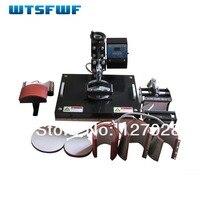 Wtsfwf 30*38 CM 8 in 1 Combo Warmte Druk Printer Machine 2D Thermische Transfer Printer voor Cap Mok plaat T-shirts Printing