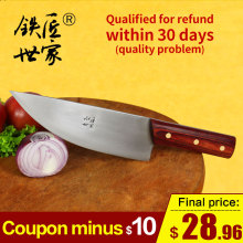 Cleaver butcher knife handmade forged stainless steel chef knives Fish meat sashimi knife ножи кухонные