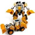 Robot transformación Coche de Metal de Aleación de Vehículo de Ingeniería de Construcción de Montaje de Camiones de Juguete Deformación 2 en 1 Robot Juguetes Para Niños de Regalos