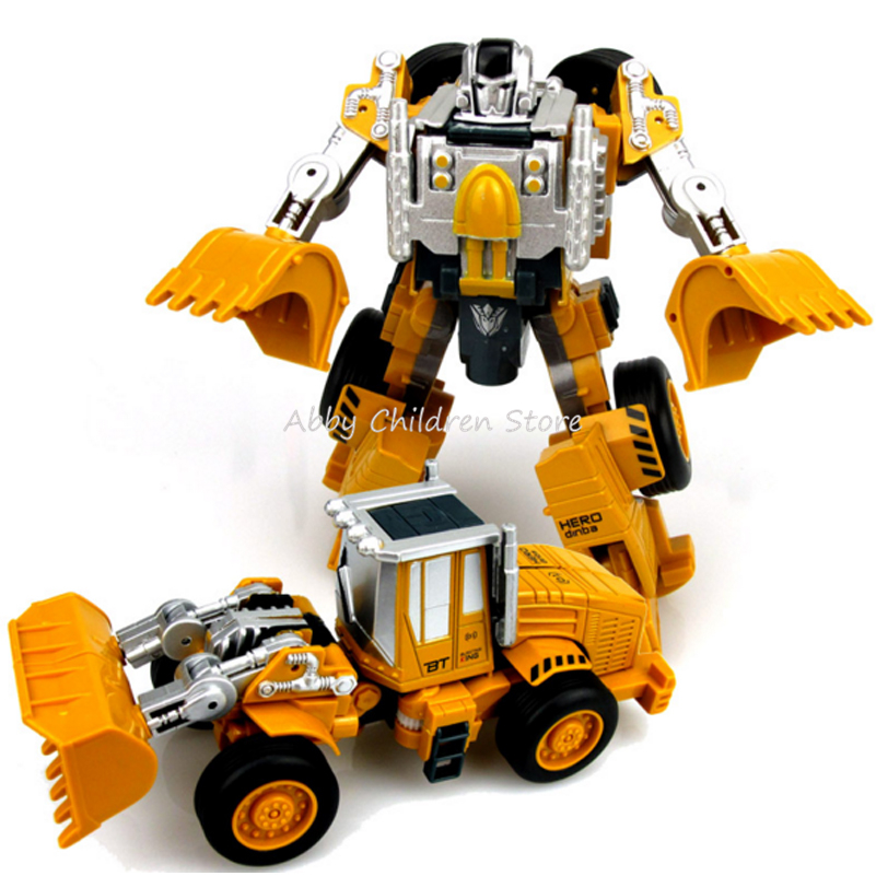 Transformation Robot Car Metal Alloy Engineering Construction Vehicle Truck Assembly Deformation Toy 2 in 1 Robot Kid Toys Gifts dinosaur transformation plastic robot car action figure fighting vehicle with sound and led light toy model gifts for boy