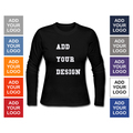 Fashion Women's Clogthing Long Sleeve T Shirt Print Personalized Add Your Design Custom Laides T-Shirt