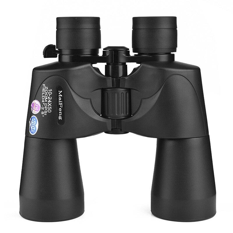 NEW 10-24X50 Zoom Binoculars Telescope FMC Green Film BAK 4 Hunting Telescopio Binoculo  Double Barrel original telescopio binoculars nikula 10 30x25 zoom telescope binoculo profissionais bak4 prismaticos for spotting binoculares