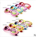 2015 New Fashion Super Cute Kids Children Sunglasses For Girls Baby Boys Vintage Cool Cat Goggle Butterfly Eyewear