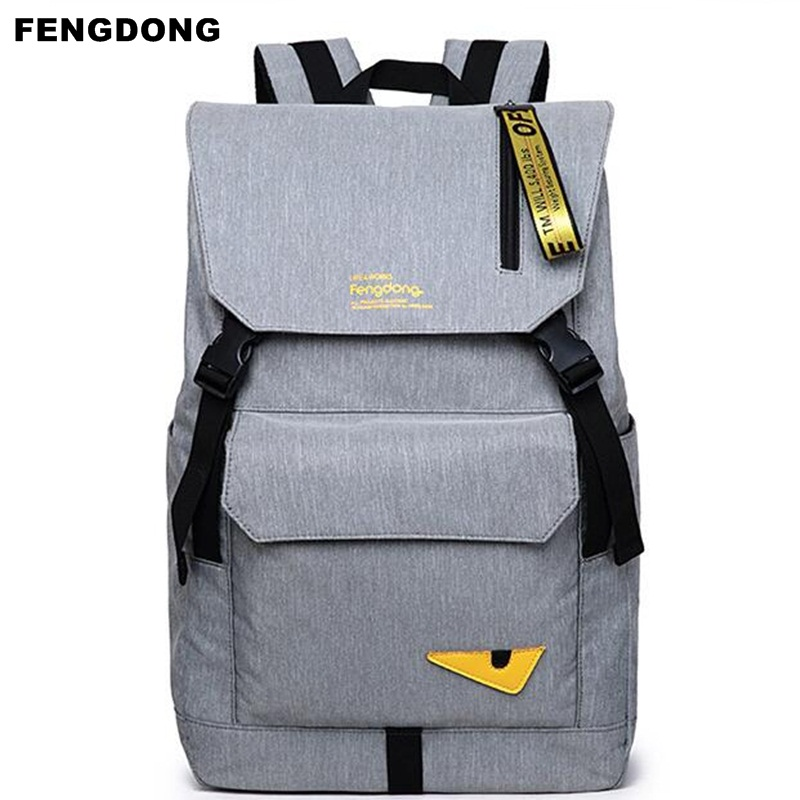 New Fengdong Men Backpack Monster Design School Bag For Teens Student Oxford USB Charge Laptop Backpack Travel Backpacks 2017  fengdong men backpack oxford youth fashion brand usb charge designer back pack college bags school bag waterproof backpacks male