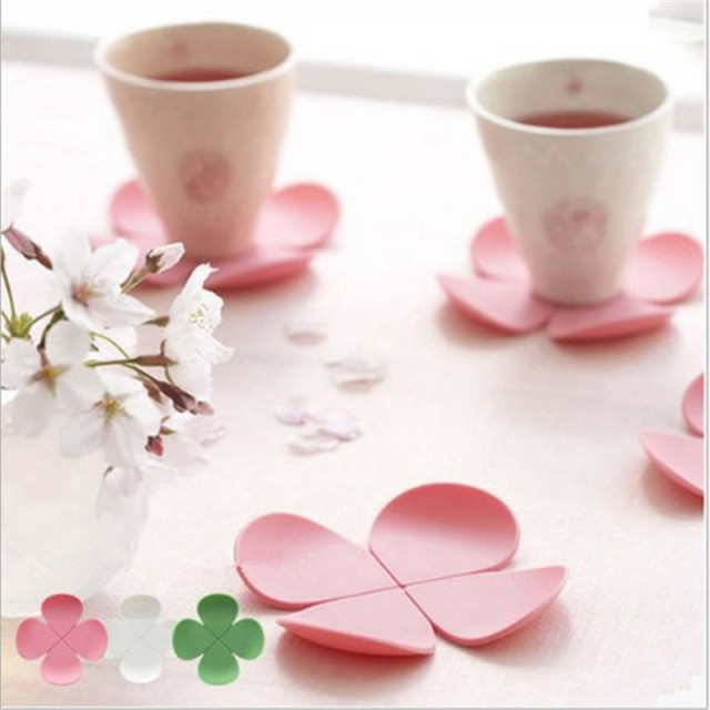 5pcs Flower Silicone Heat Resistant CoastersTable Mats Dining Table Cloth Mat Party DIY Home Wedding