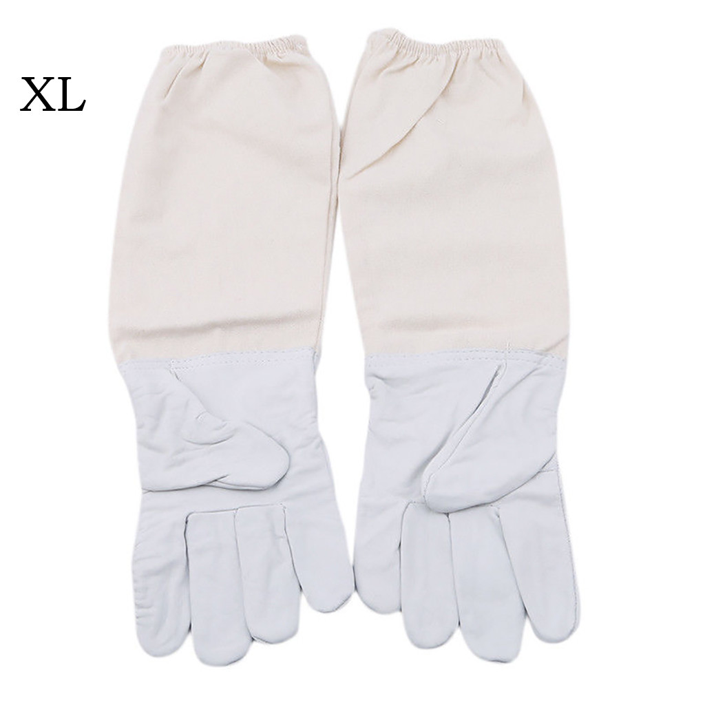 Image 4 - 2019 can't miss recommended Beekeeping Gloves Goatskin Bee Keeping with Vented Beekeeper Long Sleeves beekeeping supplies-in Protective Clothing Accessories from Home & Garden