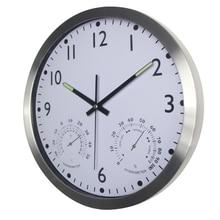 Large Silent Wall Clock Quiet Sweep Movement Round Metal Clocks No-ticking Home Decor Horloge