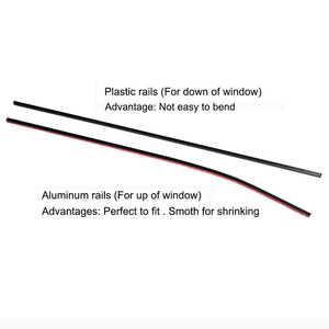 Image 4 - 50cm 60cm 70cm Aluminum Plastic rails for Car Window Curtians  (No curtains)
